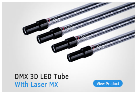 dmx 3d led tube